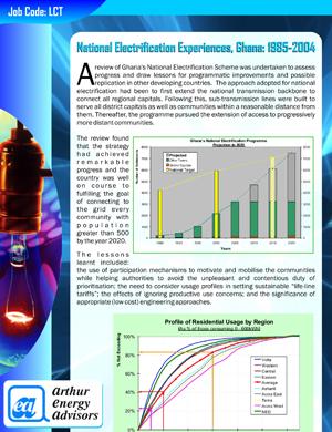 National Electrification Experiences, Ghana: 1985-2004