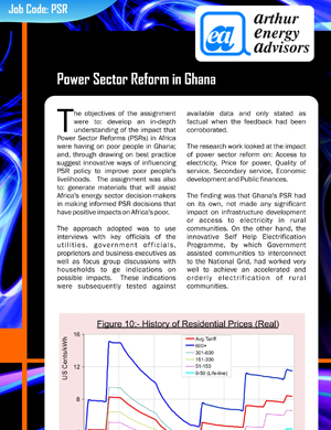 Power Sector Reform in Ghana