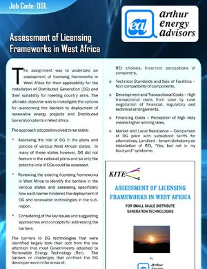 Assessment of Licensing Framework in Africa