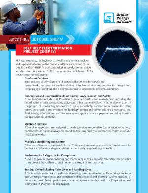 SHEP_IV Self Help Electrification Programme